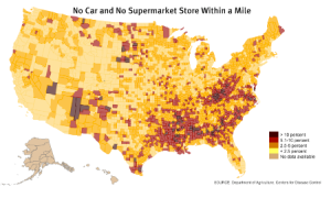 Map of Food Deserts in USA
