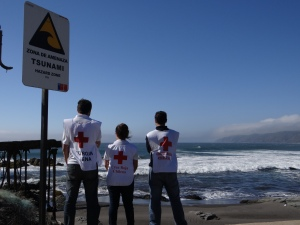 Chilean Red Cross volunteers are working with coastal communities to prepare for future disasters like earthquakes and tsunamis.