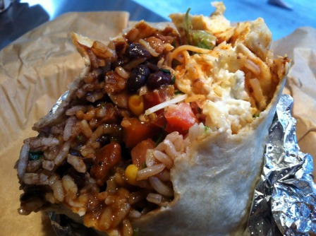Bite into Qdoba burrito >> Fall in love >>  Photograph for the word. I've been there.